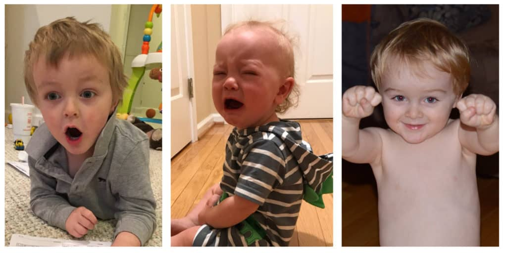 Three Crying Kids: Baby, Preschooler, Elementary Schooler