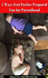 a toddler and preschooler passed out on a couch for naptime