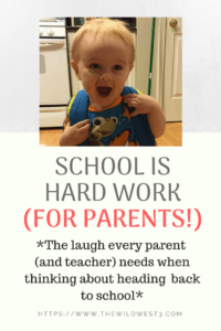 Back to School is Hard Work for Parents. Everyone knows that school work is tough for kids, but many don't realize how much work it is for parents -- until they're in the thick of it. Thank goodness there's preschool -- your Couch to 5K for the school years -- to get you ready for the onslaught of elementary school work coming your way. Send this to a parent or teacher who could use a laugh as we head #backtoschool! #teacher appreciation