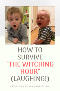 sad toddler and preschooler crying during the witching hour