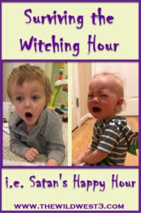 A baby and toddler crying during the witching hour