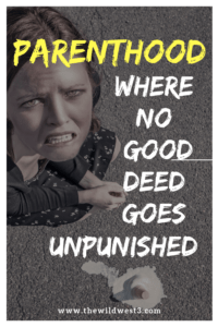 #Parenthood: where no good deed goes unpunished! Enjoy this humorous story of when family movie night goes wrong. #Potty issues are the worst, kids eating junk food is the worst, nosebleeds are the worst. #Motherhood is just full of surprises!