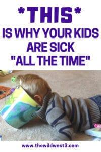 My always sick kid throwing up in a bucket