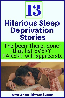 funny pin image of mom with sleep deprivation asleep