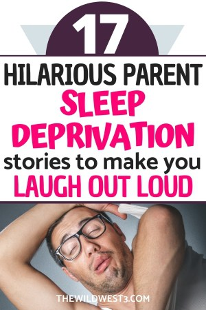 Dad confused and funny from sleep deprivation