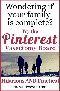 Should your husband get a vasectomy? Should you have more kids? How do you know when you're done having babies? These are all important conversations to have with your spouse, but they're stressful! Might as well laugh about it with some hilarious food for thought. #parentinghumor #marriagehumor #parenthumor #parenting #vasectomyhumor #momlife #parentinghacks #parenting101