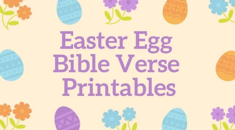 Easter Bible Verses for Kids – Free Printable Memory Verses