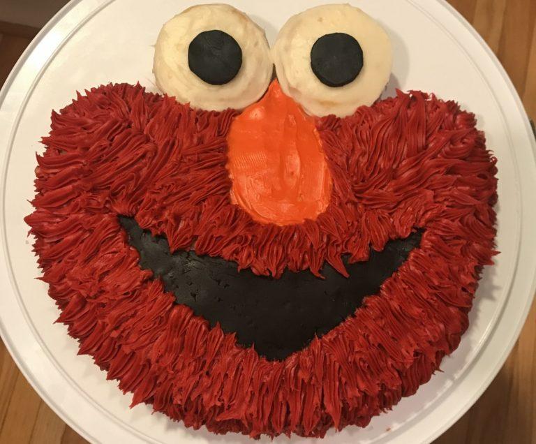 How To Make An Easy Elmo Birthday Cake (for Cheap!) – A DIY Tutorial