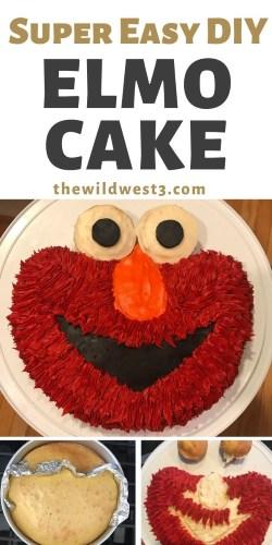 Phenomenal How To Make An Easy Elmo Birthday Cake For Cheap A Diy Tutorial Personalised Birthday Cards Veneteletsinfo