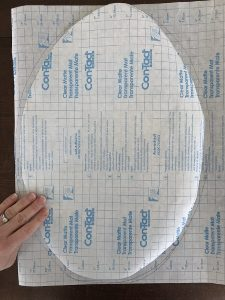 Contact Paper Easter Egg Tracing Template