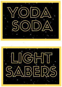 Star Wars party food labels - in color