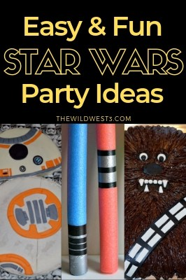 These easy and fun Star Wars Party ideas include everything you need to throw the perfect birthday party. From easy DIY Star Wars party favors and decorations, Star Wars themed party food (including free printable labels), and even a printable Star Wars word scramble to use as a party game –I've got you covered! #kidspartyideas #starwars #birthdayparties