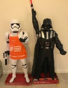 "4-foot Stormtrooper and Darth Vader ""Battle Buddies"""