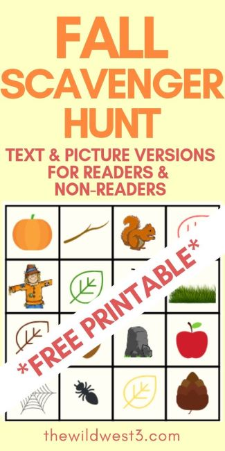 photo regarding Fall Scavenger Hunt Printable identify Tumble Scavenger Hunt Designs for Children - Cost-free Printables
