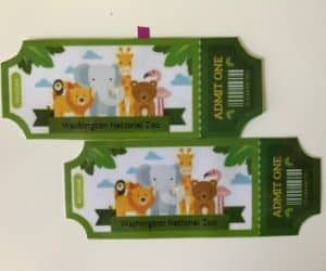 non toy gift idea for kids example of a printed zoo ticket