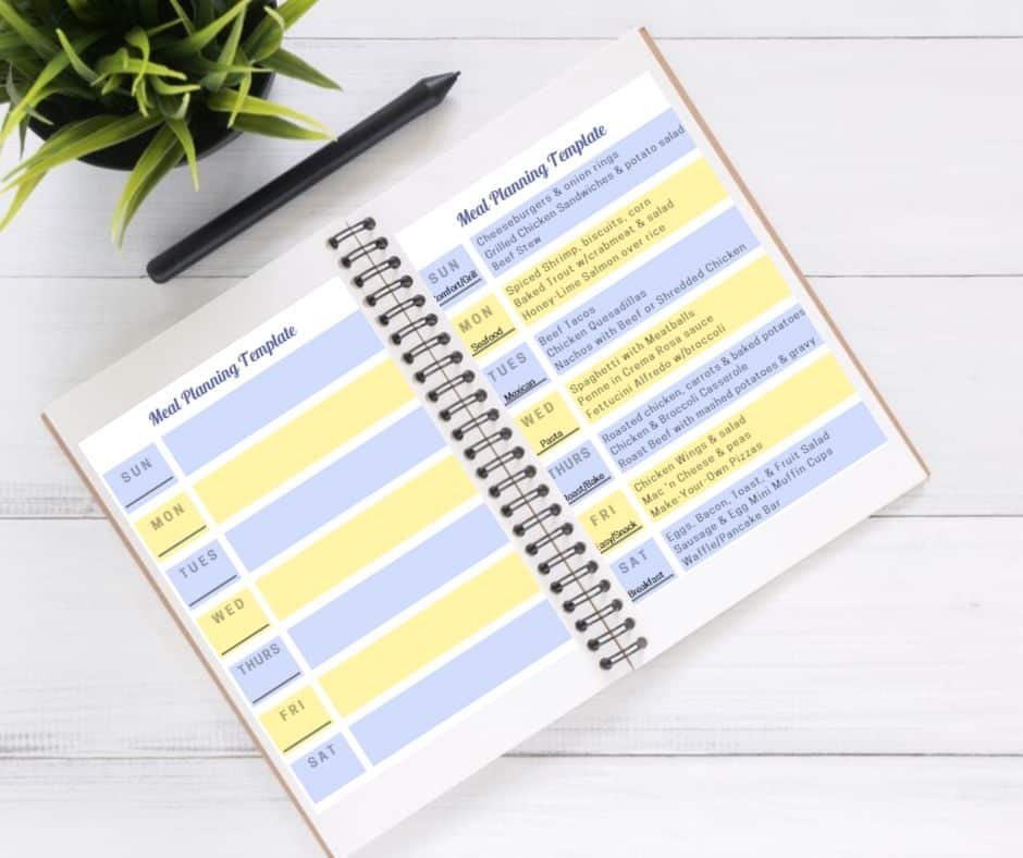Meal Planning For Families: The Weekly Meal Plan Template