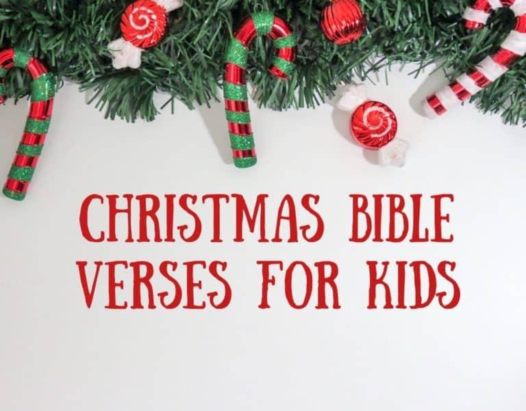 Christmas Bible Verses for Kids – Free Printable Memory Verses