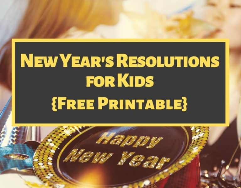 New Year's Resolutions for Kids Printable (Free)