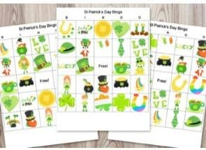 3 Boards for St. Patrick's Day Bingo Activities for Kids
