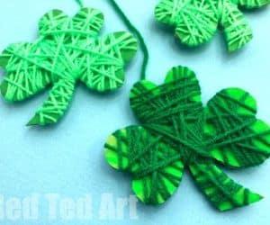 St. Patrick's Day Shamrock Fine Motor Craft for Kids
