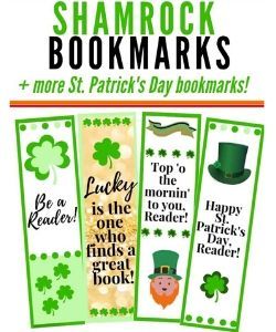 St. patrick's day bookmarks for kids
