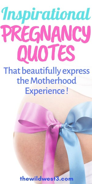 inspirational quotes about pregnancy pin image