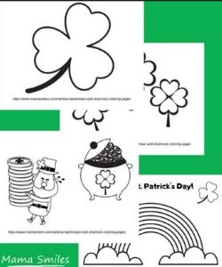 st. patrick's day coloring activity for kids images