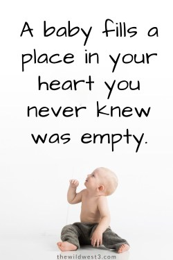 Inspirational pregnancy quote about having a baby