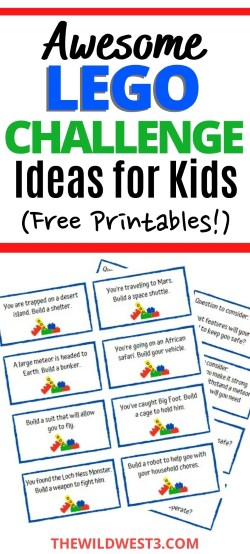 Lego Challenge Ideas for Kids Printable Pin
