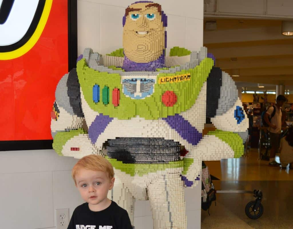 Kid with a lego challenge build
