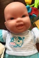 Picture of a baby doll to use to prepare toddler