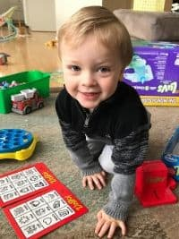 playing board games with toddler after new baby arrives