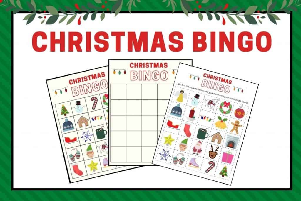 Christmas bingo game printables featured image