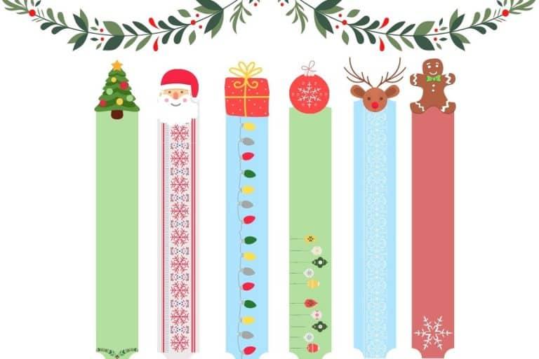 Christmas Bookmarks for Kids Printable