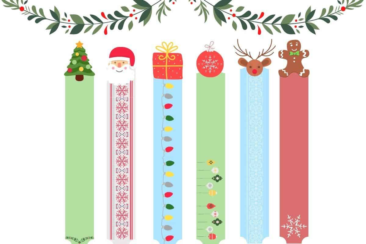 Christmas bookmark printables for kids featured image