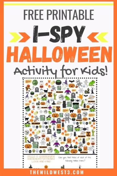 Halloween Activity I Spy Free Printable pin image