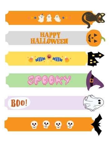 Halloween Bookmarks for kids printable thumbnail