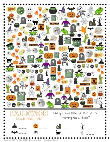 Halloween I Spy Holiday Activity Picture resize