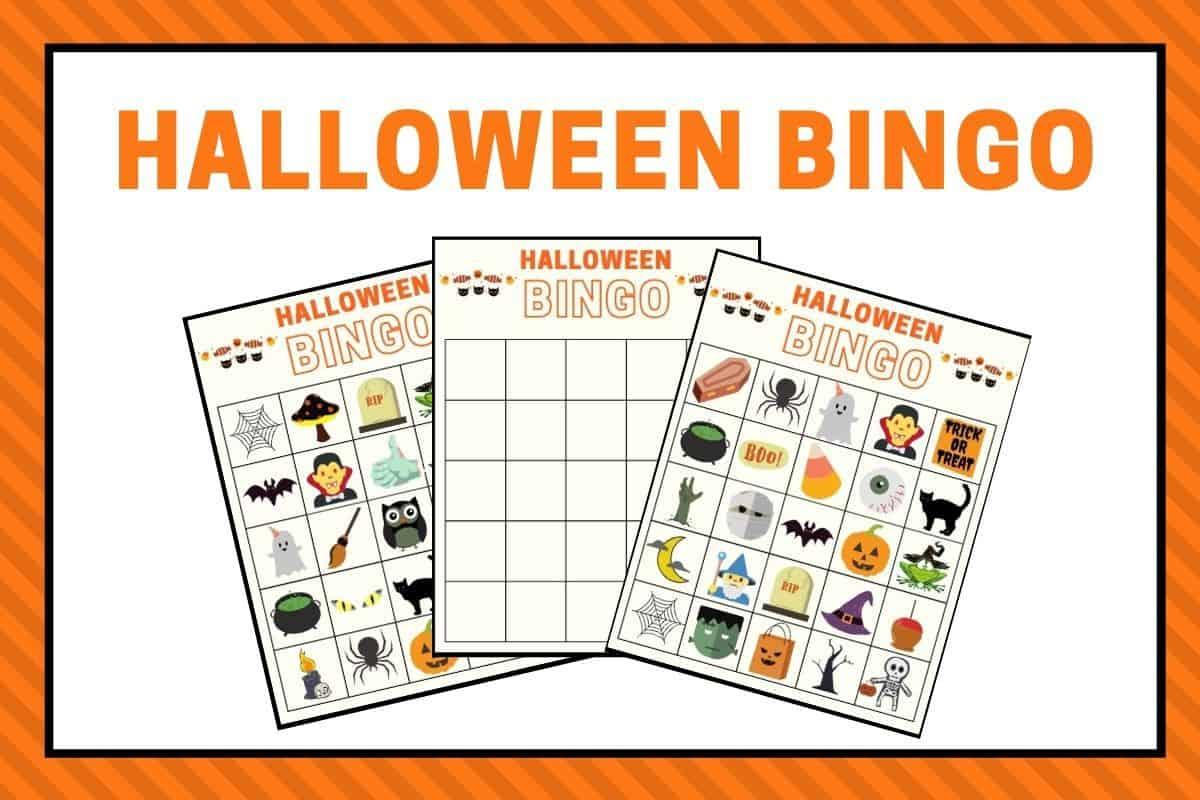 Halloween bingo game printables featured image
