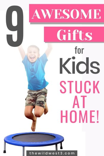 great gifts for kids stuck at home pin image