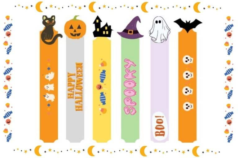 Halloween Bookmarks for Kids Printable