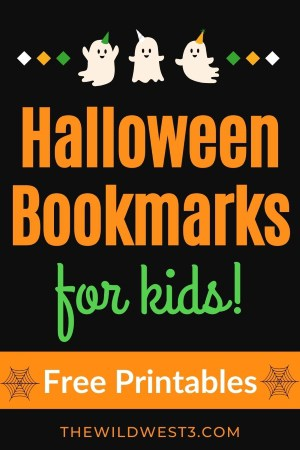 halloween bookmarks for kids free printable pin