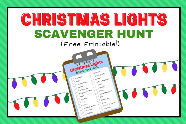 Christmas Lights Scavenger Hunt List Printable (Free)