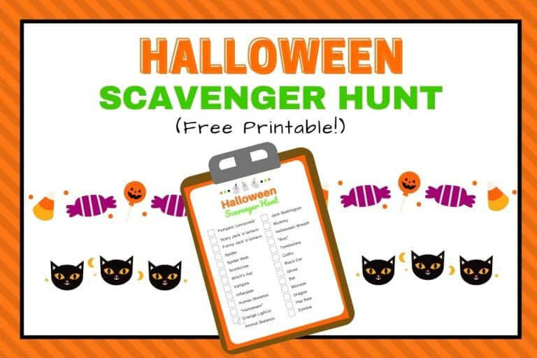 Halloween Scavenger Hunt for Kids Printable {Free!}
