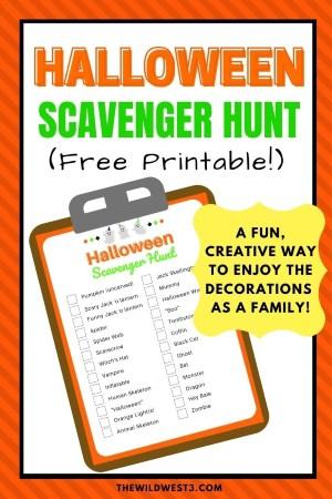 halloween scavenger hunt for kids pin image free printable