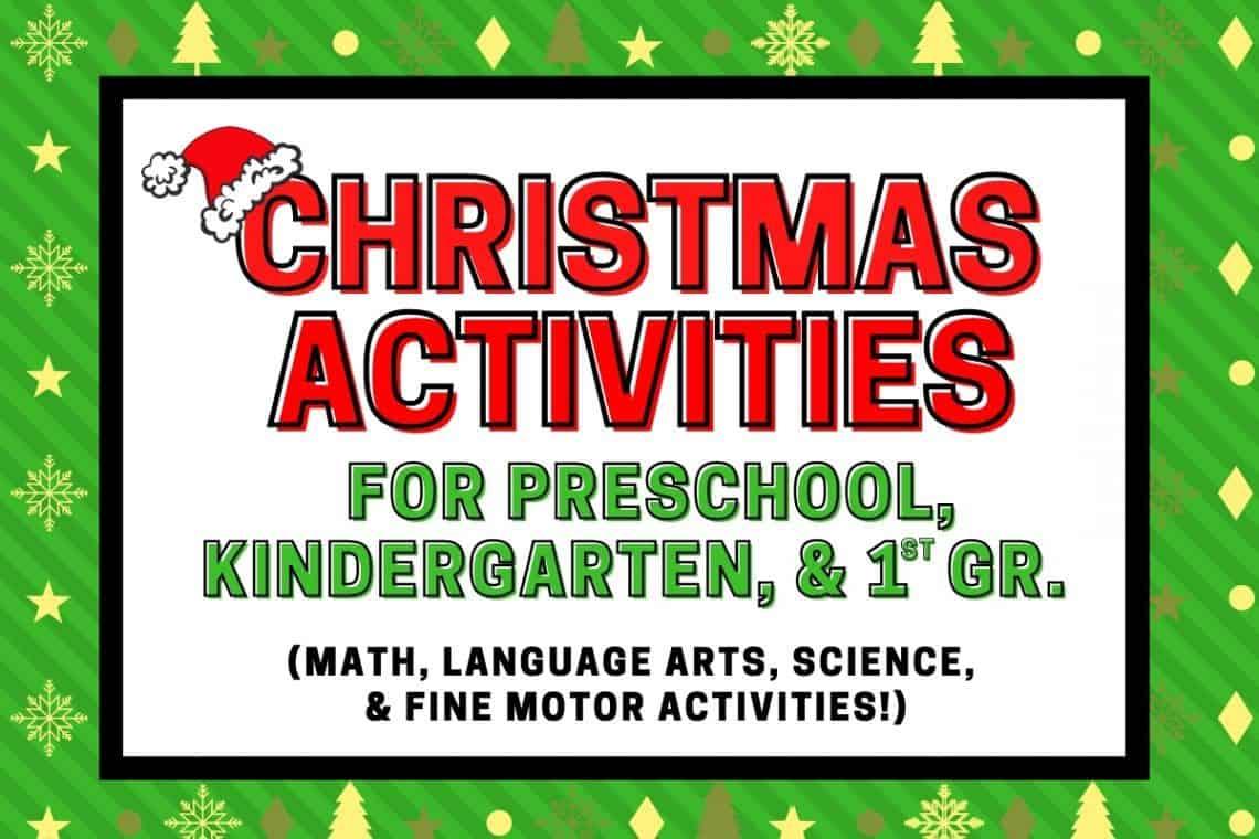 Christmas activities for preschool and kindergarten featured image