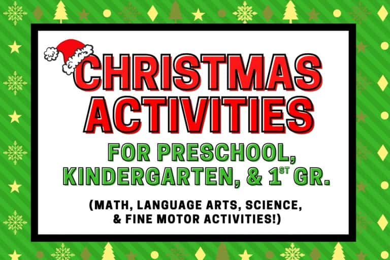 Christmas Activities for Preschool and Kindergarten – A Fun and Educational Activity Pack