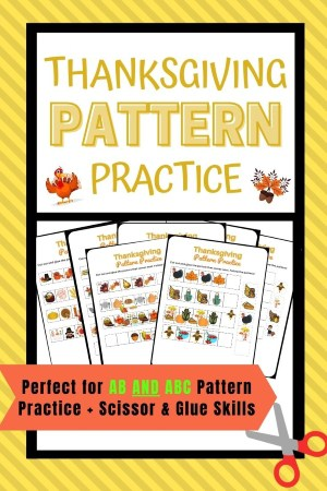 preschool thanksgiving pattern practice and thanksgiving cutting practice pin image 2