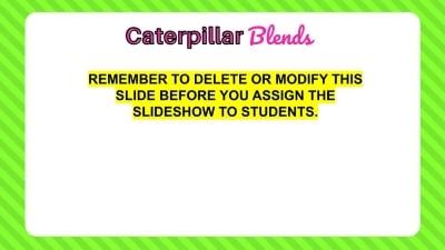 Blank Consonant blend slide for teachers or parents to reuse