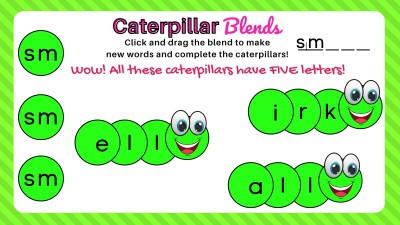 Sm Beginning Consonant Blend Activity Slide Example for first grade